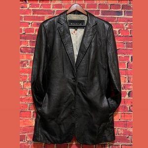 Kenneth Cole New York Women's Long Leather Blazer
